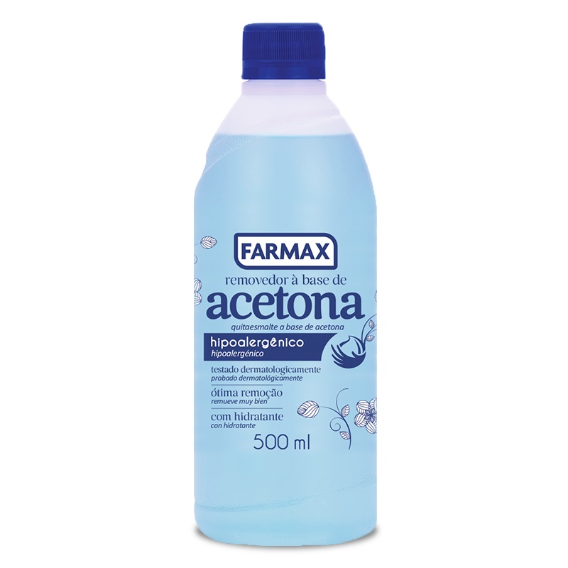 Acetona 500 ml - Farmax