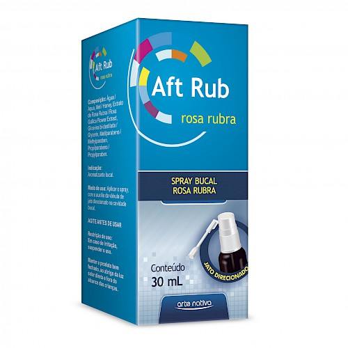 Aft Rub Spray Bucal (Rosa Rubra) 30 ml - Arte Nativa